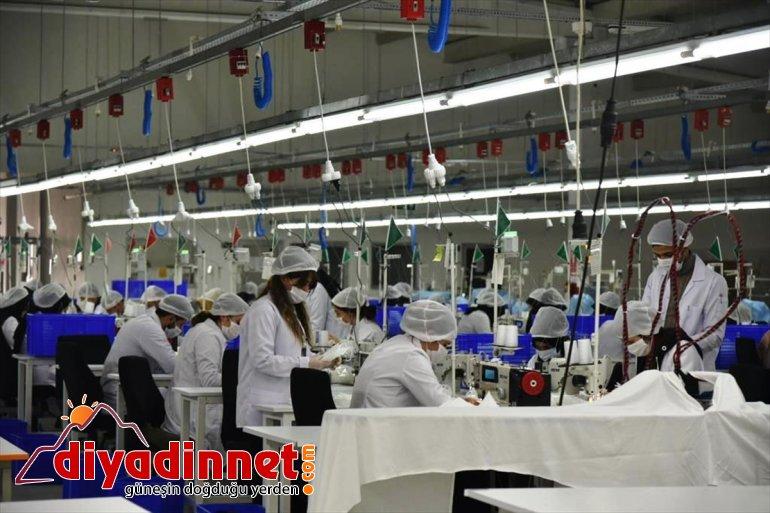 üretiyor maske kadınlar Ağrılı Tekstilkent'te 2