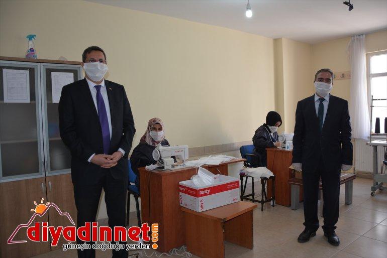 Patnos gönüllü öğreticiler - Merkezi'nde maske Eğitim AĞRI usta üretiyor Halk 6