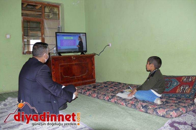 hediye edildi için televizyon derslerini kardeşlere izleyebilmeleri Van'da yanan evleri 6