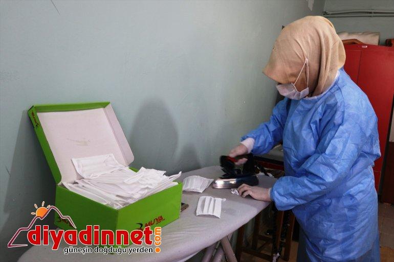 maske kadınlar, üretiyor grubu sağlık ve Ağrılı gönüllü için çalışanları Vefa 4