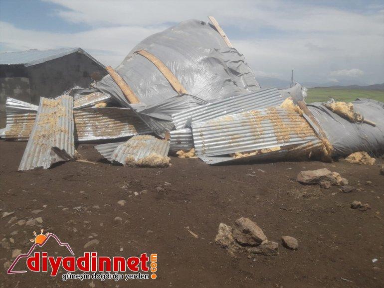 yol açtı Ağrı'da hasara rüzgar şiddetli 11