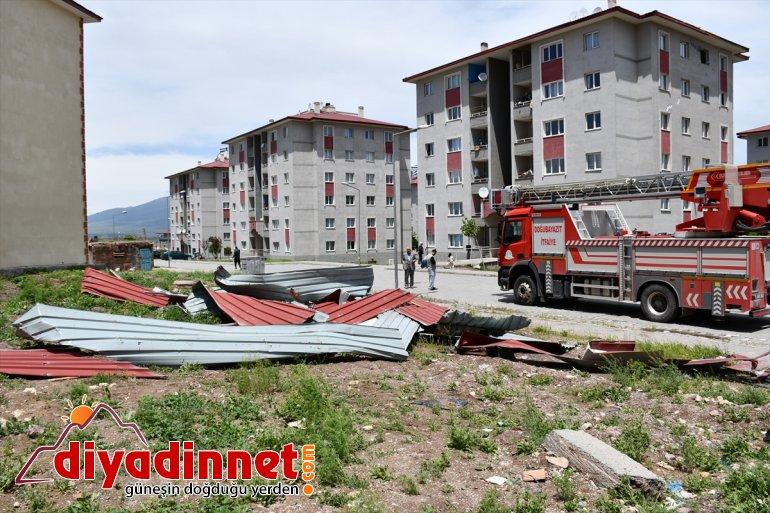 şiddetli açtı hasara rüzgar Ağrı'da yol 6