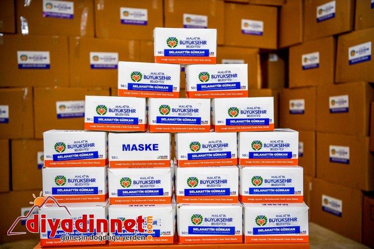 Malatya'dan Ağrı'ya 40 bin maske gönderildi