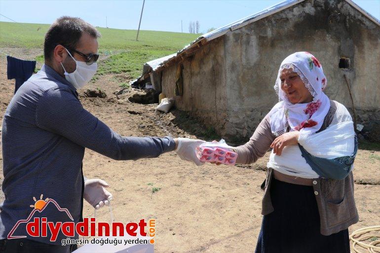 dağıtıyor AĞRI - ücra sabun Vefa en ekibi köylerde maske ve 4