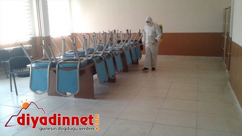 öncesi dezenfekte okullar sınav Ağrı'da edildi 2