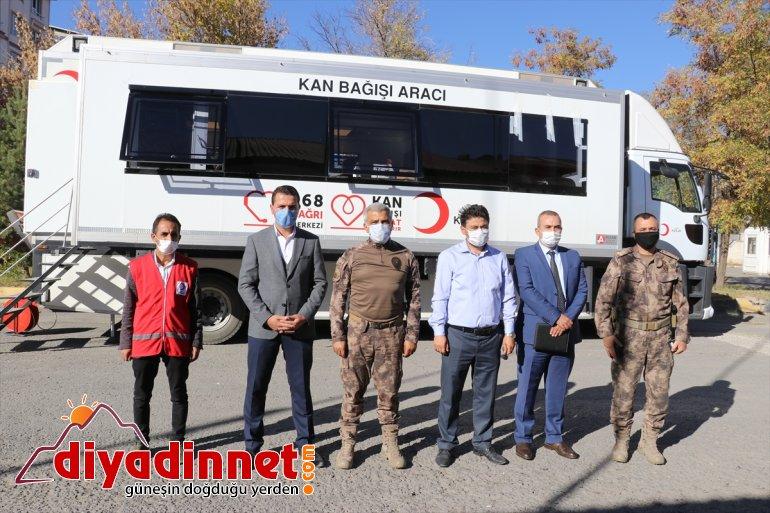 Emniyetinden kan Türk bağışı Kızılaya Ağrı desteği 2