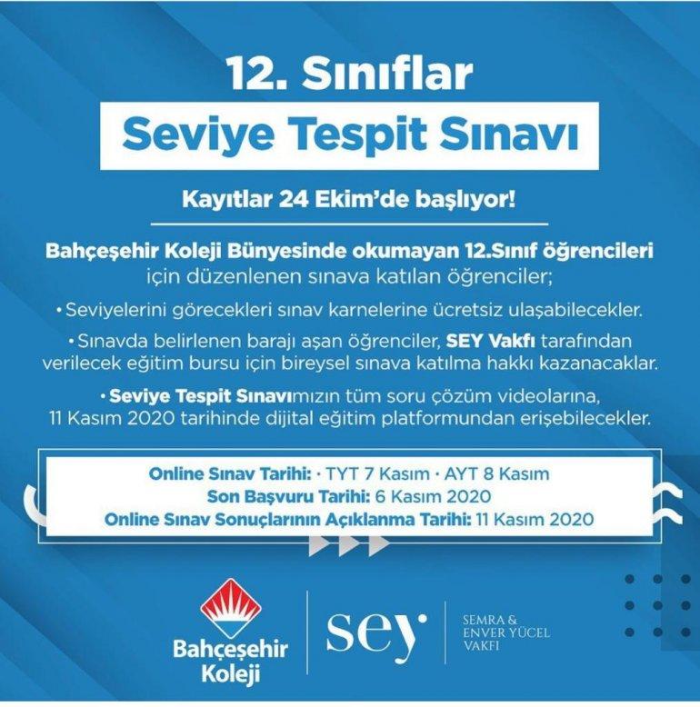 Bahçeşehir Koleji sınav1