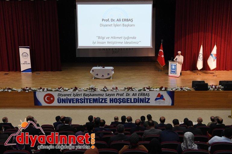 Erbaş, Diyanet verdi: Başkanı İşleri konferans Ağrı'da Ali 7