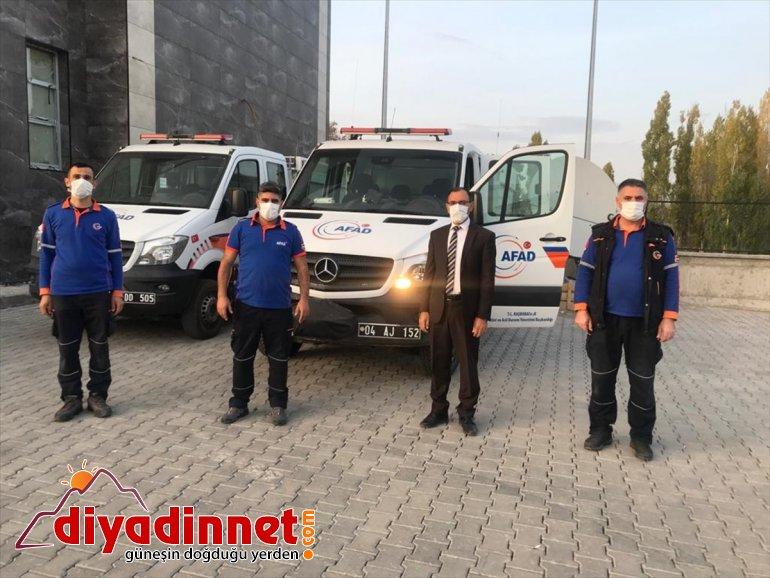 Erzurum, Erzincan ve Ağrı'dan deprem bölgesine 40 kişilik AFAD ekibi gönderildi