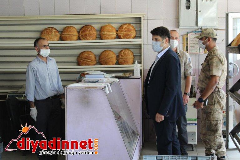 Hamur'da Kovid-19 denetimi yapıldı