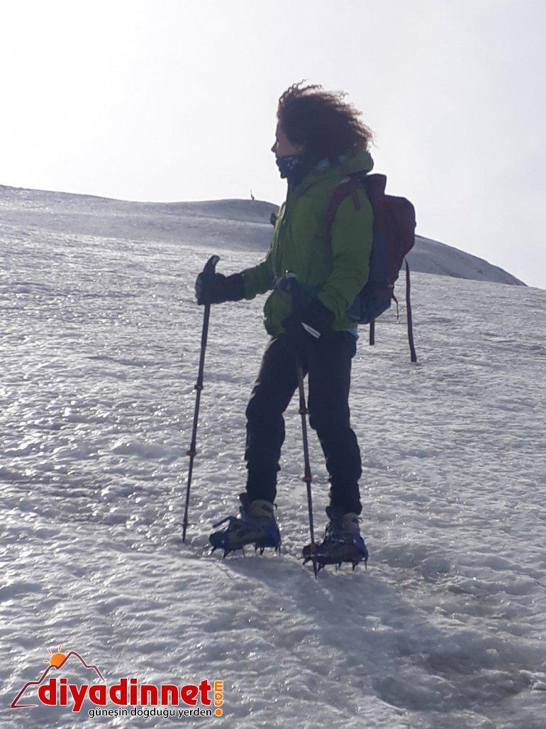Küresel ısınmaya dikkat çekmek için dağın zirvesine tırmandı3