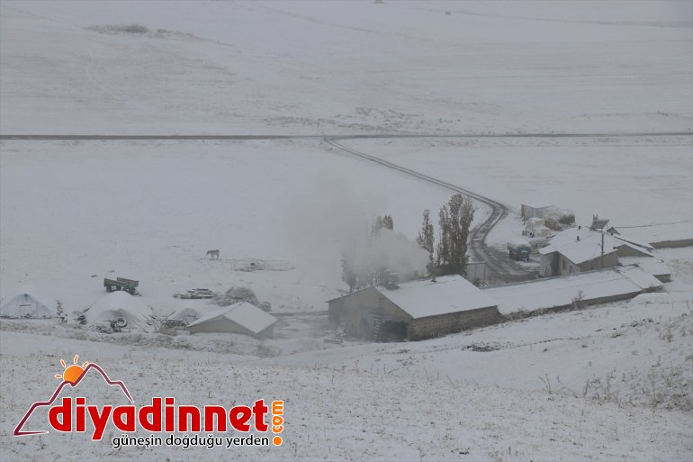Ardahan'da kar yağışı 2