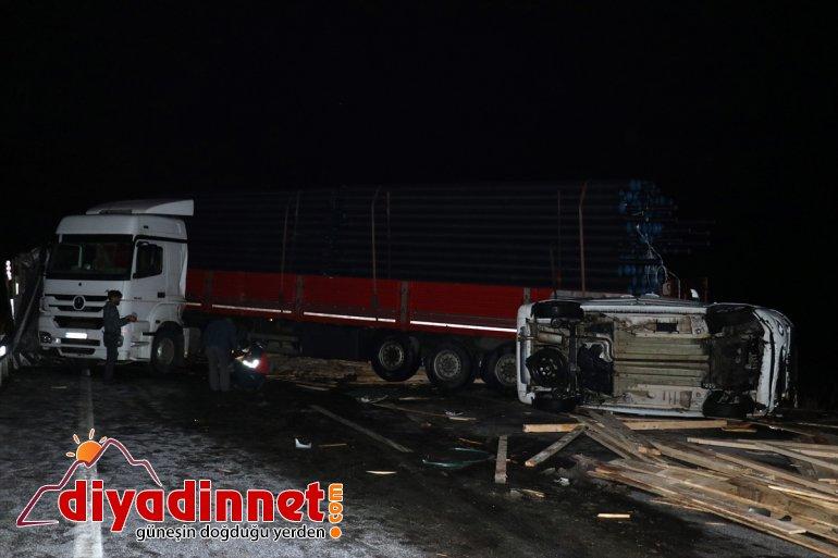 3 nedeniyle - Buzlanma trafik AĞRI yaralı kayganlaşan yolda zincirleme kazası: 6