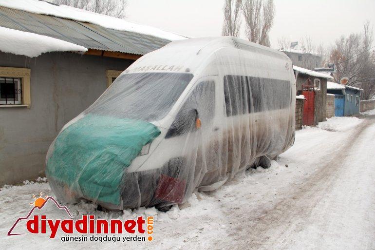 Sibirya soğukları Ağrı yı dondurdu4
