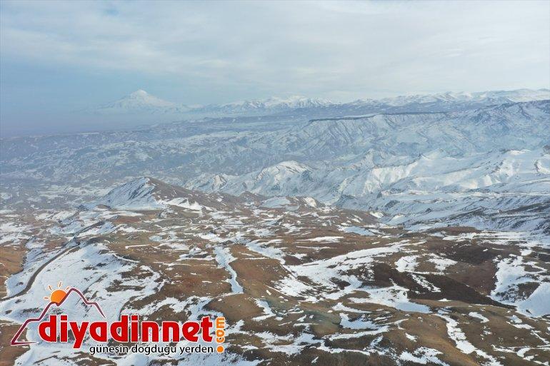 şubatta ve kar erimeye Aras Dağları'ndaki başladı Ağrı Dağı 7