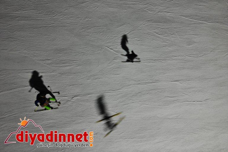 aydınlatılan de Pistleri Merkezi AĞRI Küpkıran - geceleri keyfi Kayak sunuyor kayak 11
