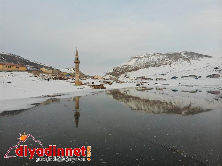 Barajı'nın görüyor eski AĞRI buz tutan minaresi yükselen köyün ilgi yüzeyinden - Yazıcı 8