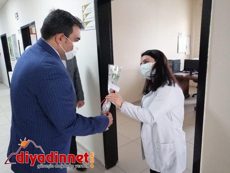 Diyadin Kaymakamı ve Belediye Başkan Vekili Balcı sağlık çalışanlarını unutmadı2