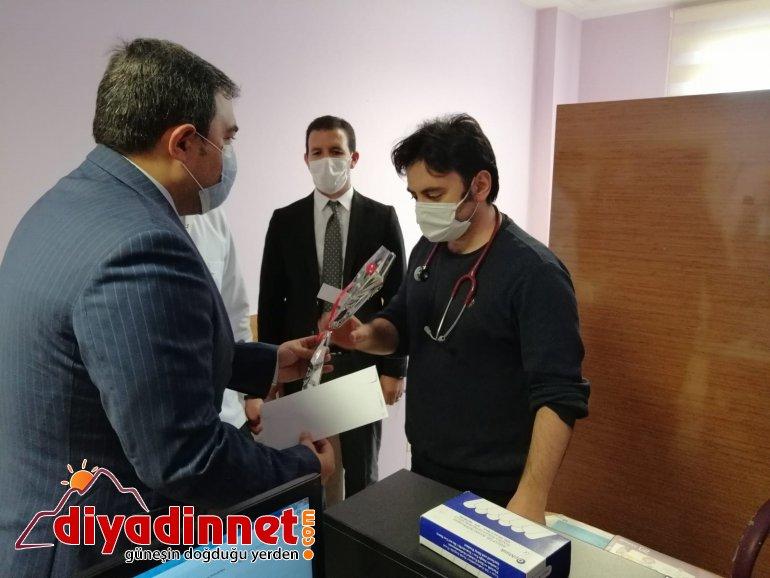 Diyadin Kaymakamı ve Belediye Başkan Vekili Balcı sağlık çalışanlarını unutmadı8