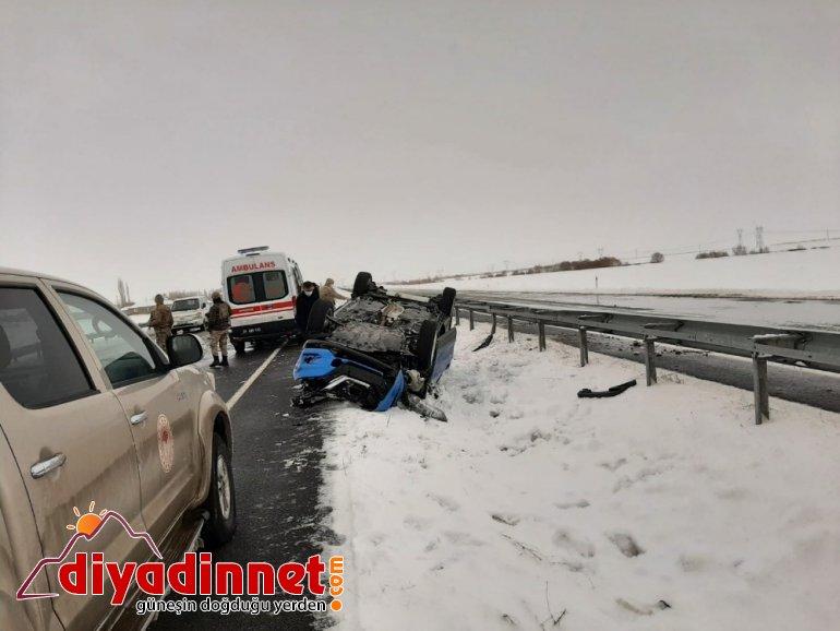 Eleşkirt te trafik kazası yaralı3