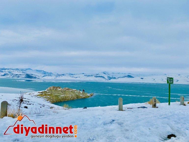Kısmen buz tutan Yazıcı Barajı fotoğraf tutkunlarının ilgi odağı oldu
