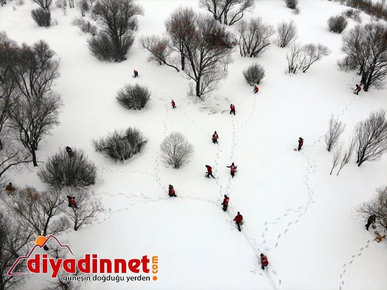 Türk gönüllüleri, bölgelere dağlık yaban bıraktı için Kızılay yem hayvanları 21