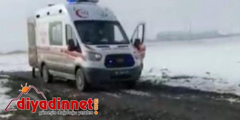 112 acil kurtarma ekipleri kar, çamur dinlemediler