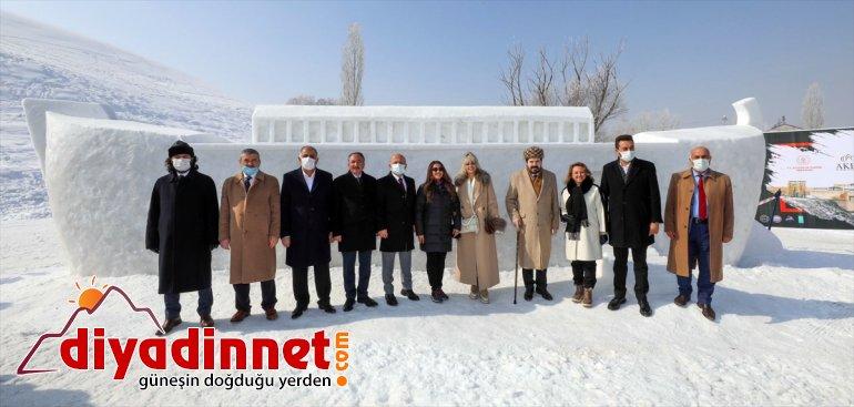 Ağrı'daki '1. heykeller gösterisi gördü Kar Buz ilgi Festivali'nde milli ve ile kayakçıların kardan 24