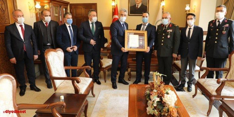 Erzincan'da Devlet Övünç Madalyası ve Beratı Töreni düzenlendi