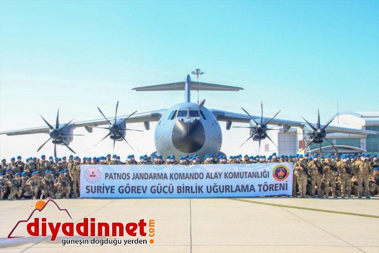 Kahraman komandolar Türk bayrakları ve dualarla Ağrı'dan Suriye'ye uğurlandı