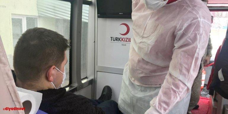 Selim'de jandarma personelinden Kızılay'a kan bağışı1