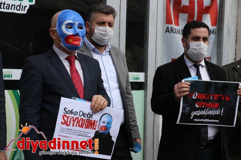 Ağrı da STK ler Çin in Uygur Türklerine yönelik politikasını kınadı5