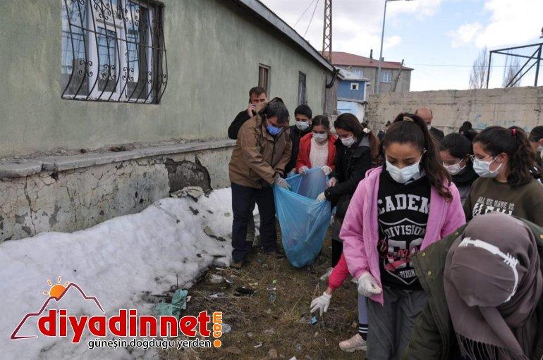 Diyadin de çöp toplama etkinliği düzenlendi3