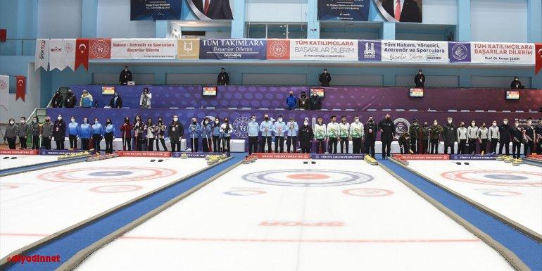 Erzurum'da Türkiye Curling Ligleri Final Müsabakaları başladı