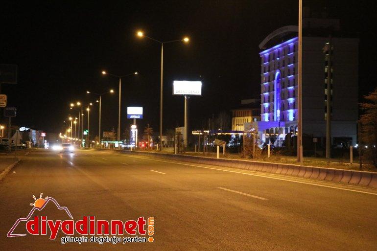 hakim Erzurum'da başlamasıyla çıkma sokağa sessizlik kısıtlamasının oldu 2