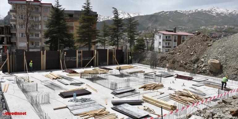 Hakkari'de jandarma personeli için yapılacak 72 konutun temeli atıldı