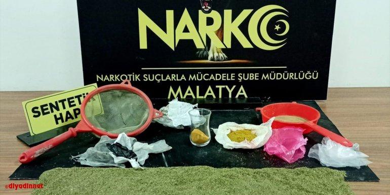 Malatya'da uyuşturucu operasyonlarında yakalanan 5 zanlı tutuklandı