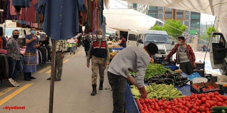 Malatya'da jandarma Kovid-19 tedbirlerini denetledi