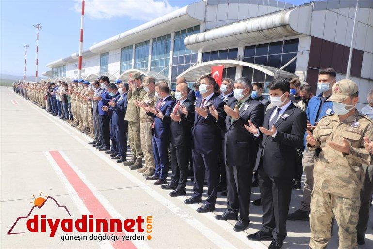 asker Operasyonu'nda düzenlendi - olan AĞRI Eren-15 için tören şehit 7