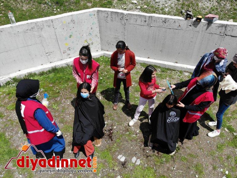 bayram çifte - Kızılay kız çocuklarına gönüllüleri yaşattı kırsaldaki AĞRI 5