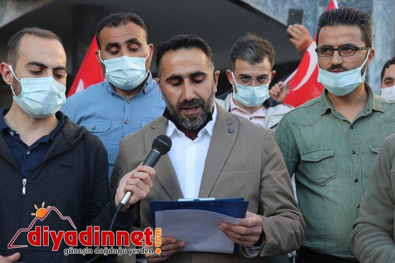 Ağrı'da Filistin'e İsrail'in edildi saldırıları protesto yönelik 2