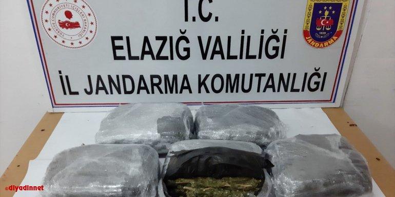 Ankara'ya valizle uyuşturucu sevk etmek isteyen şüpheli Elazığ'da yakalandı
