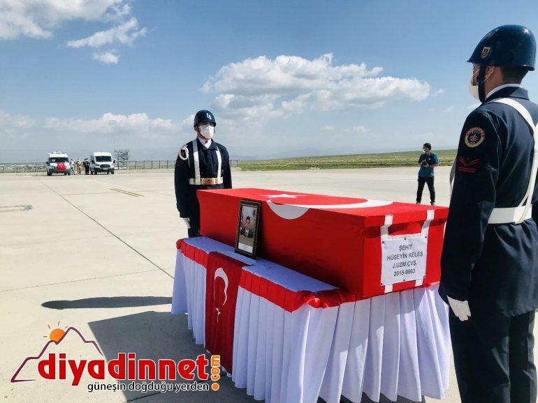 Eren Operasyonunda şehit olan Jandarma Uzman Çavuş Hüseyin Keleş in cenazesi Ankara ya gönderildi5