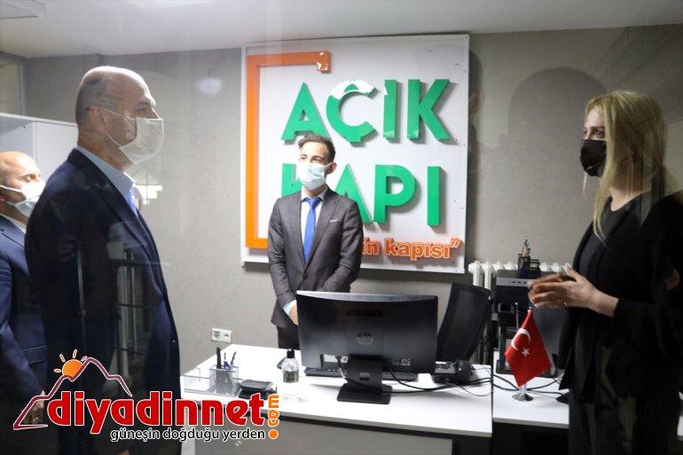 İçişleri Bakanı Süleyman Soylu Ağrı da bazı kurumları ziyaret etti2