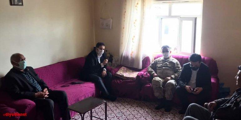 Kaymakam Ataman'dan şehit ailelerine bayram ziyareti