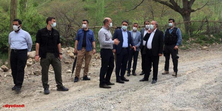 Van Büyükşehir Belediyesi Genel Sekreteri Çelikel, Bahçesaray'daki yatırımları inceledi