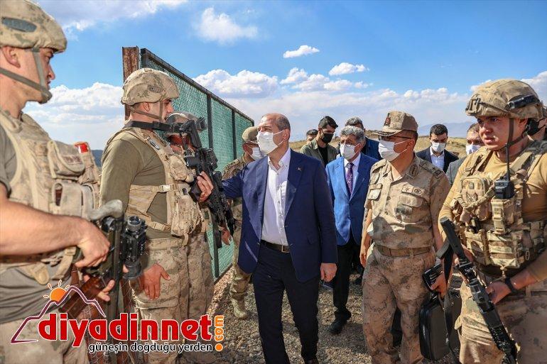 İçişleri Soylu, Bakanı inceledi: yapılan hattında güvenlik duvarı çalışmalarını sınır 32