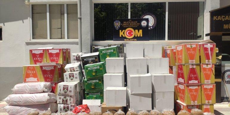 Malatya'da kaçak 1 milyon 230 bin makaron ele geçirildi
