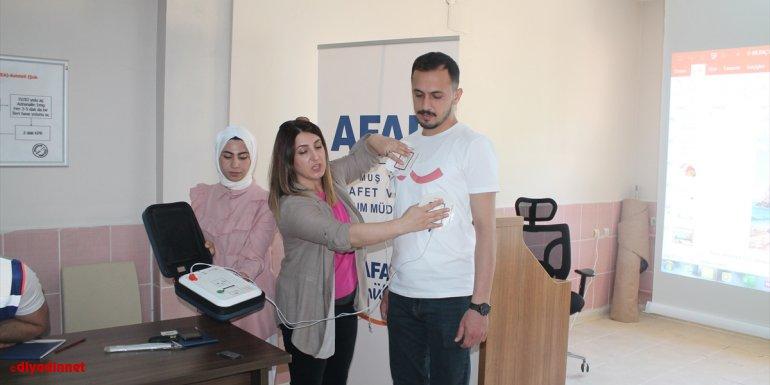 Muş'ta AFAD gönüllülerine ilk yardım eğitimi verildi