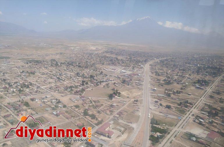 kara helikopterle denetlendi Ağrı-İran yolundaki trafik 6